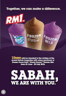Cool yourself with just RM1 and at the same time, donate!