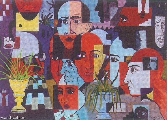 المادة و علاقتها بالفن التشكيلي