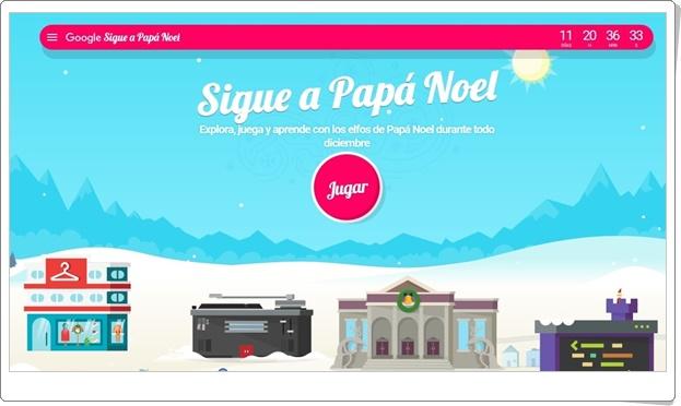 """""""Sigue a Papá Noel con Google"""" (Juegos de Navidad 2018)"""