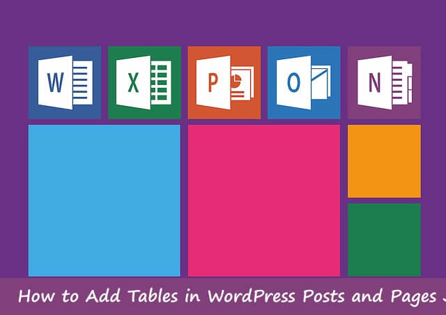 add tables in WordPress posts