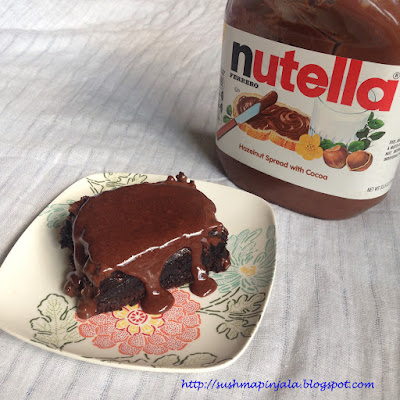 Brownie with Nutella Syrup