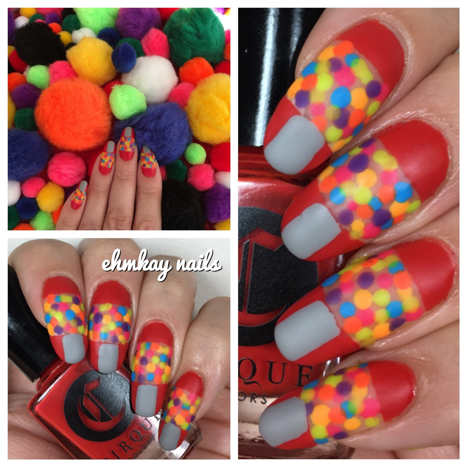 ehmkay nails: Gumball Machine Nail Art