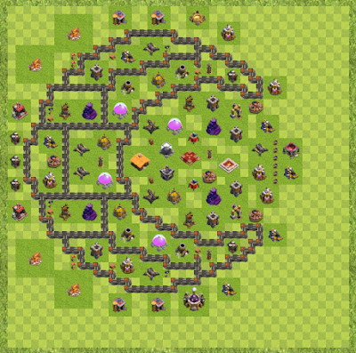 War Base Town Hall Level 9 By Johnny Rooks (Potential TH 9 Layout)
