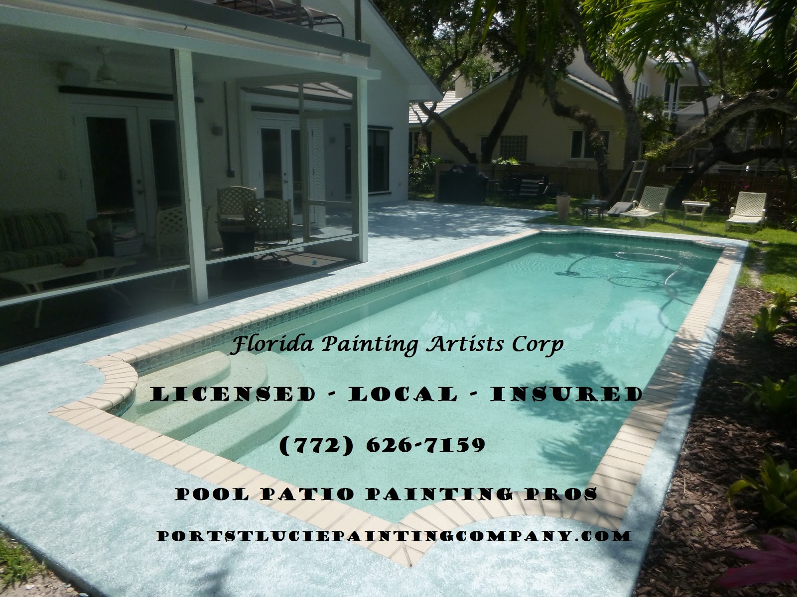 Pool Patio Painting Concrete Painting Driveway Painting