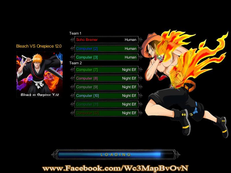 Bleach vs one piece versi 12 loading screen