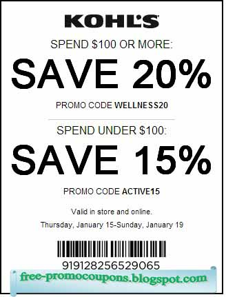 Kohls coupon codes