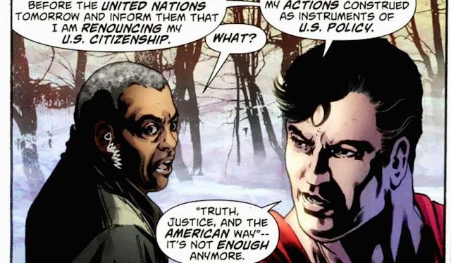 Superman fed up kal-el rouncing citizenship
