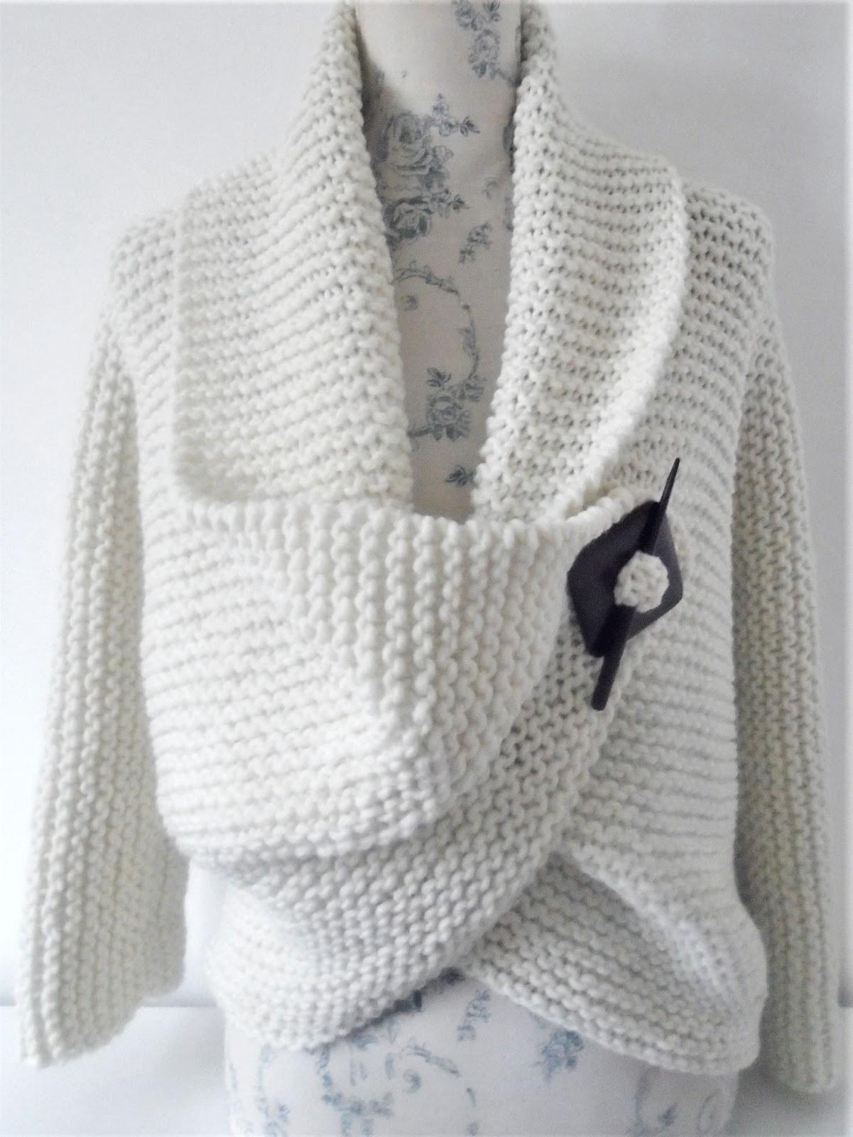 Knitting Pattern For A Chunky Garter Stitch Cardigan