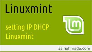linuxmint setting ip ethernet dhcp