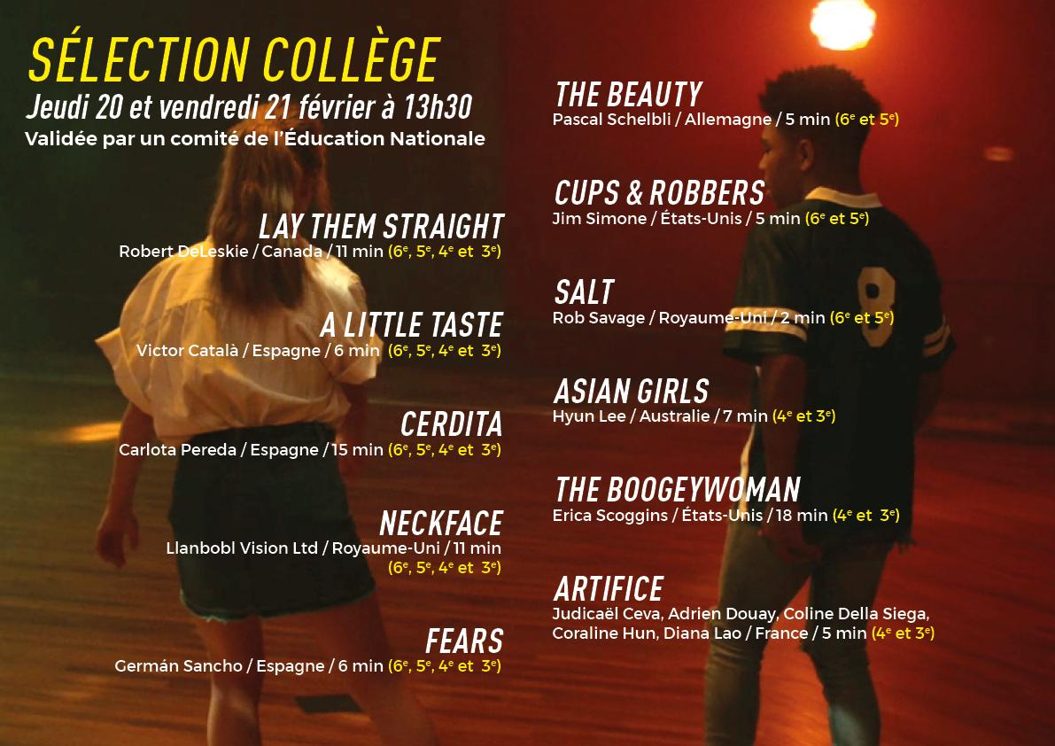 Programme scolaire : sélection pour les collèges