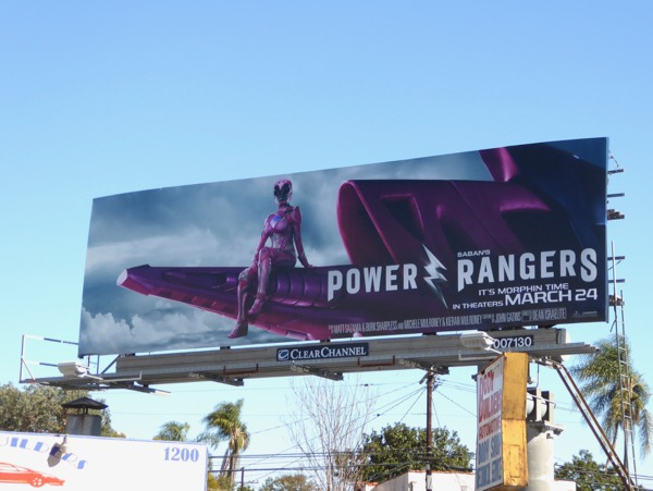 Power Rangers Pink Ranger billboard