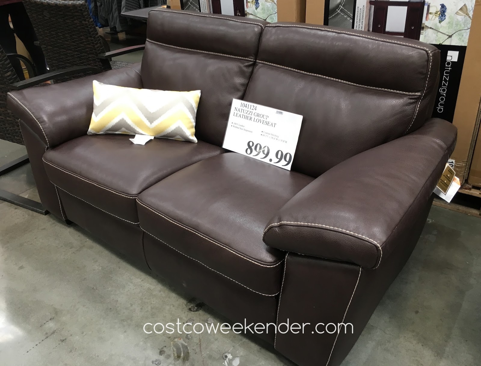 Natuzzi Group Leather Loveseat Costco Weekender