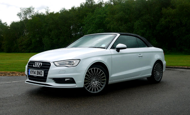 Audi A3 Cabriolet front view, closed