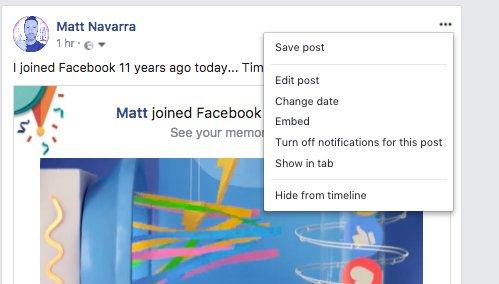 Facebook Udah Gak Bisa Untuk Hapus Postingan Lagi?