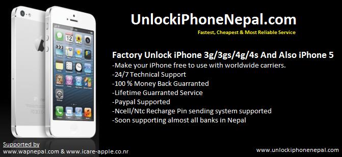 Factory Unlock iPhone in Nepal: Free iCloud unlock in Nepal