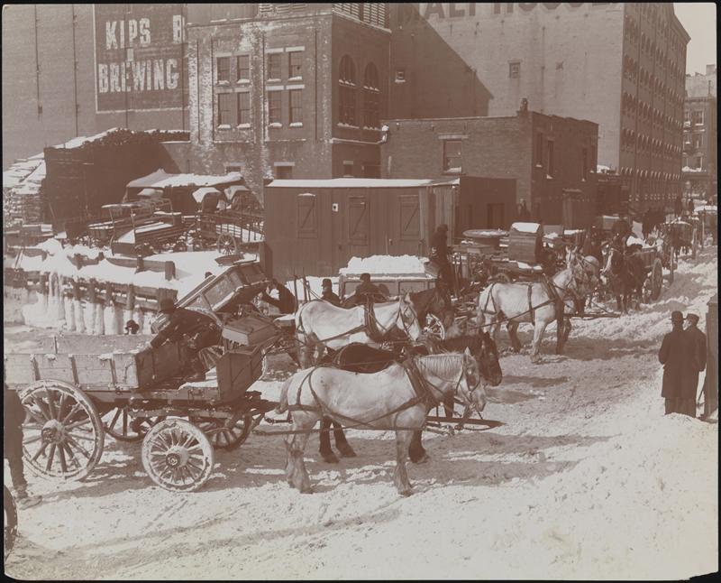 New York - History - Geschichte: The Great Blizzard ...