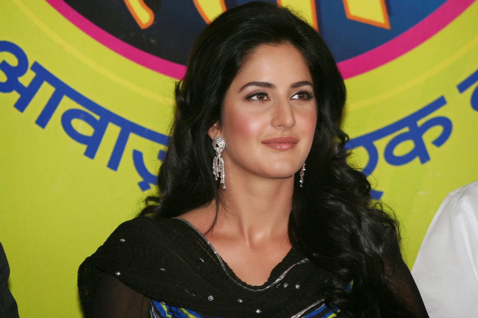 Glamorous Katrina Kaif Hot Photos In Black Dress