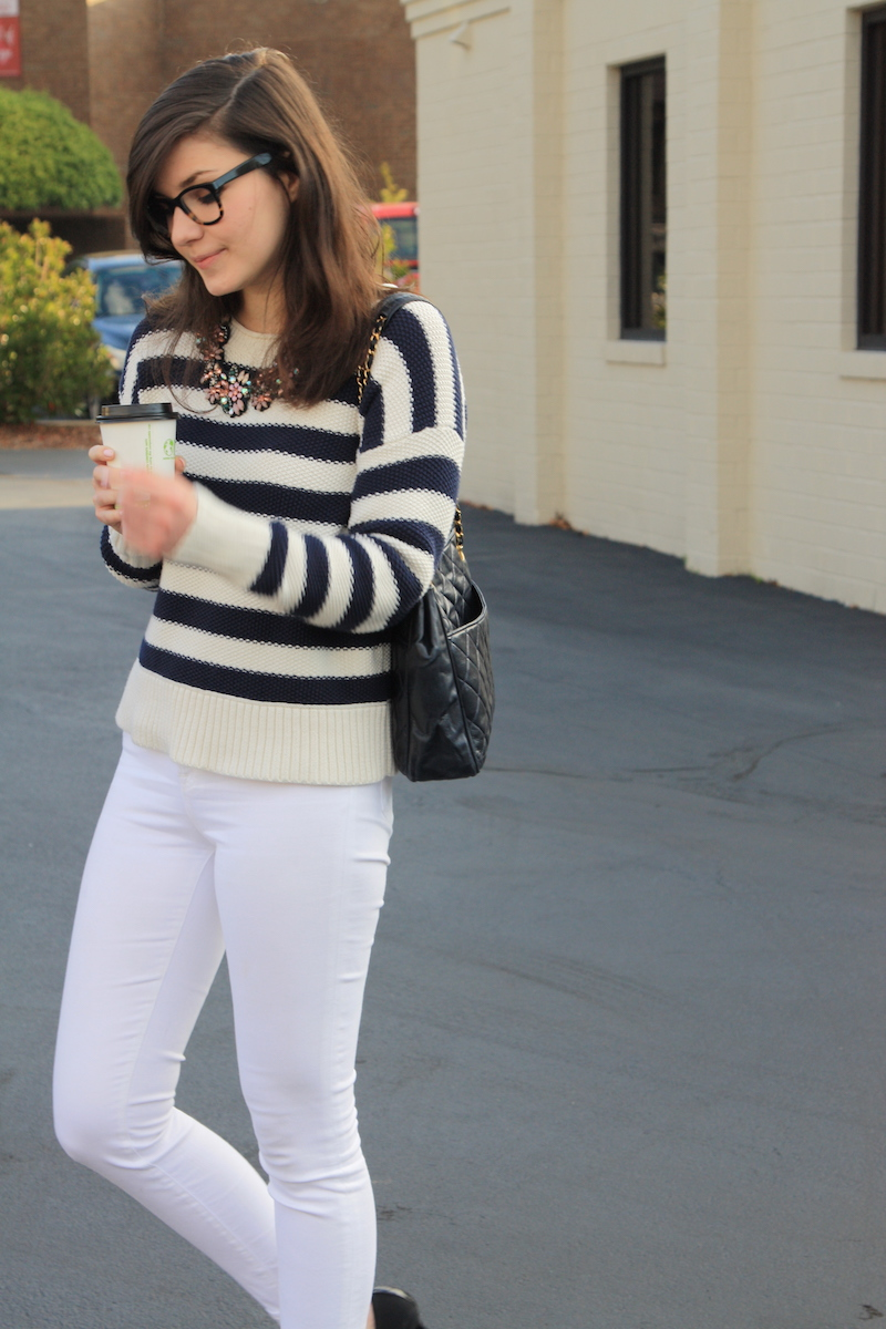 2017, OOTD, winter white, winter, white jeans, J.Crew,