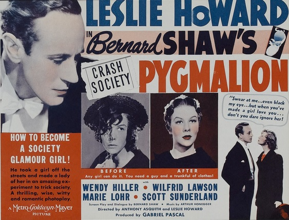 the transformation of eliza in pygmalion by george bernard shaw Linguist professor higgins (leslie howard) demonstrates to eliza (wendy hiller)   to in the 1939 gabriel pascal production of george bernard shaw's pygmalion.