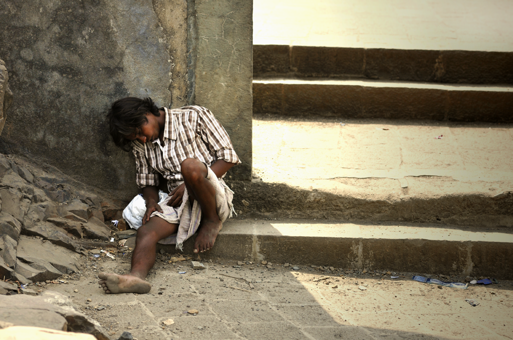 Photo of poverty in India.