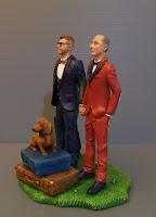 statuette torta personalizzate matrimonio gay uomini unione civile orme magiche