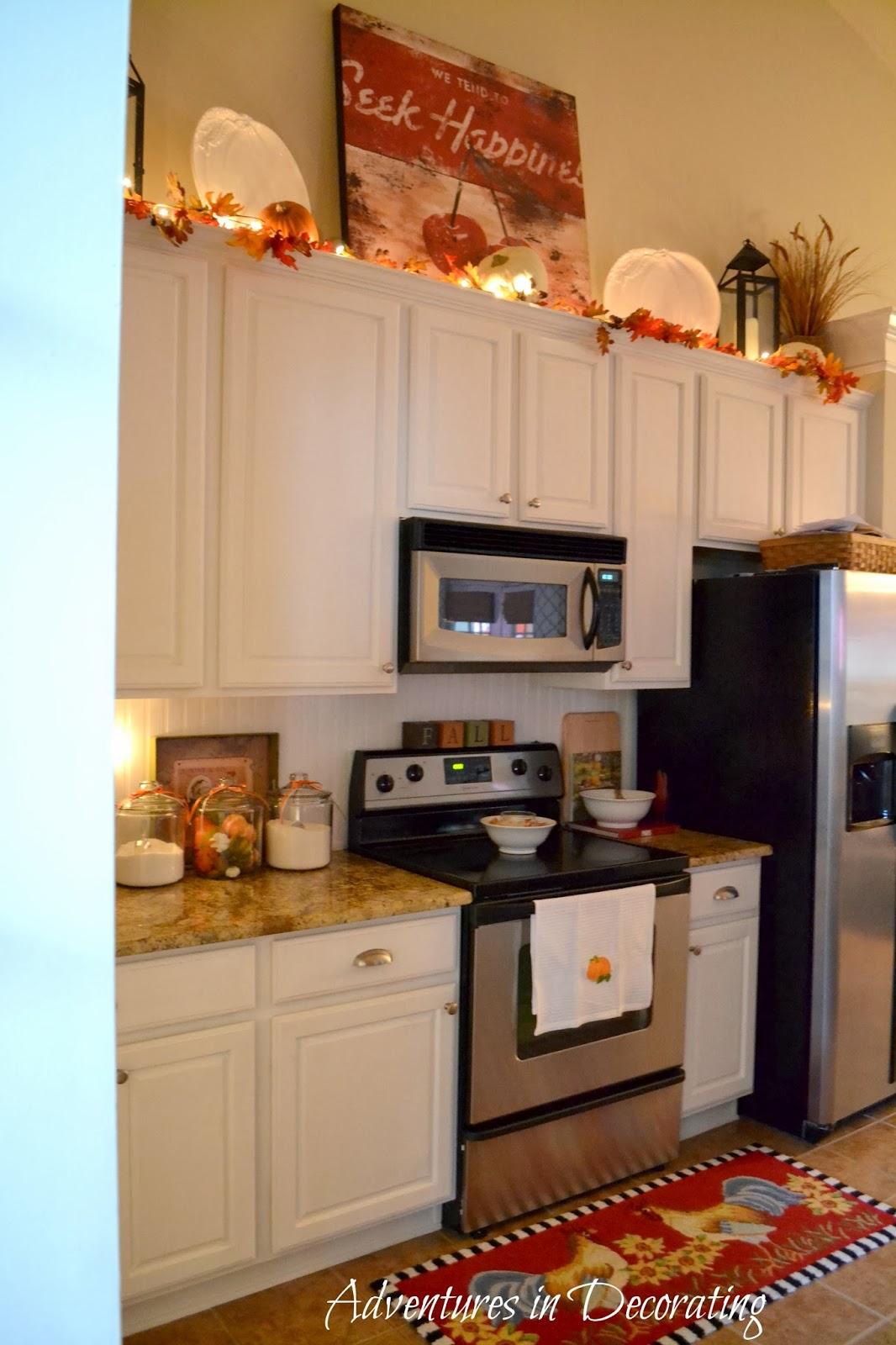 fall kitchen curtains backsplash tile decor on pinterest bakers rack tuscan kitchens