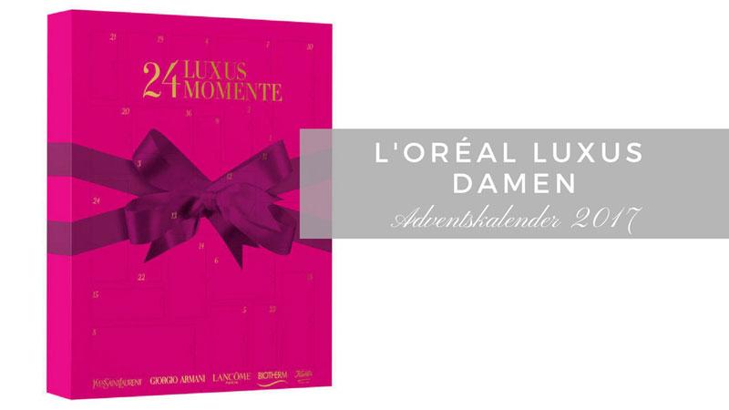Beautyadventskalender für Frauen, L'Oréal 24 Luxusmomente Damen Adventskalender 2017