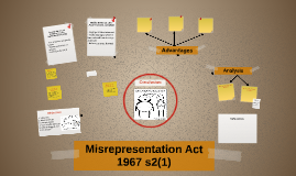 Misrepresentation act