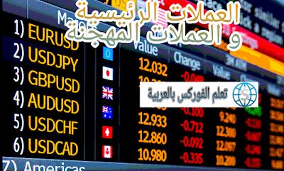 العملات الرئيسية و العملات المهجنة