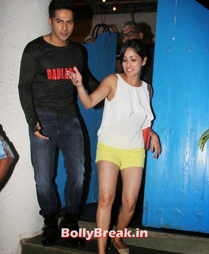 Varun Dhawan, Yami Gautam, Varun, Yami, Shruti, Nargis Pics from Badlapur Movie Wrap up party