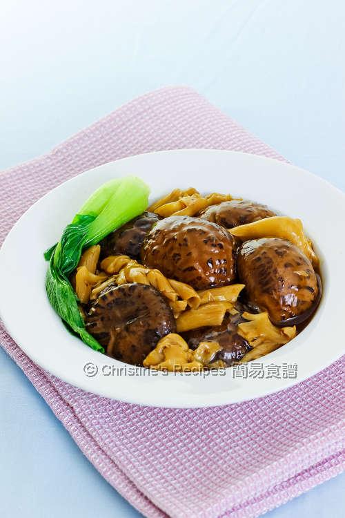 花膠燜冬菇【節日餸菜】Braised Shiitaki with Fish Maw