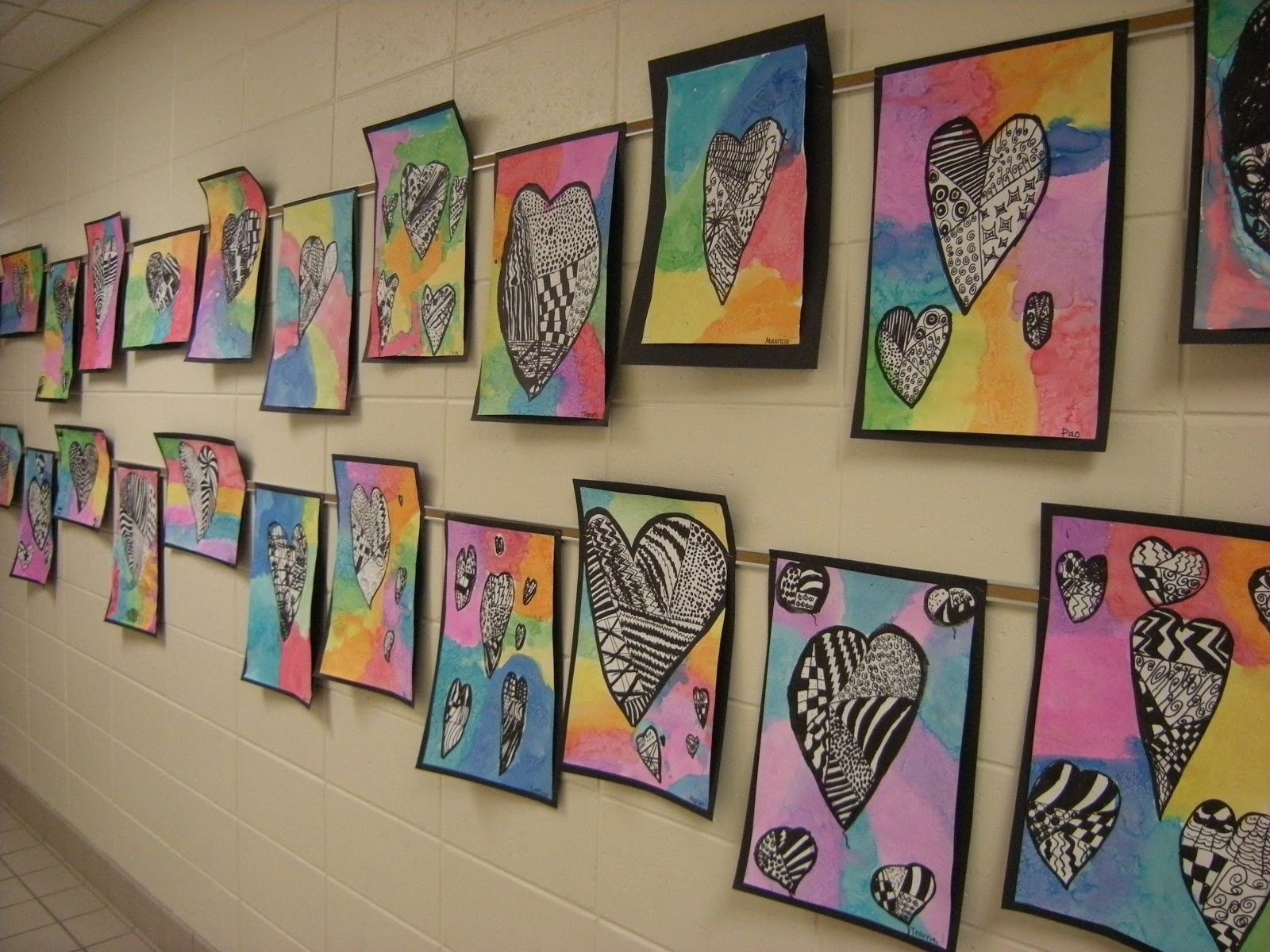 What S Happening In The Art Room 3rd Grade Zentangle Hearts