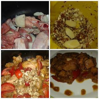 carne en salsa con verduras y lomo