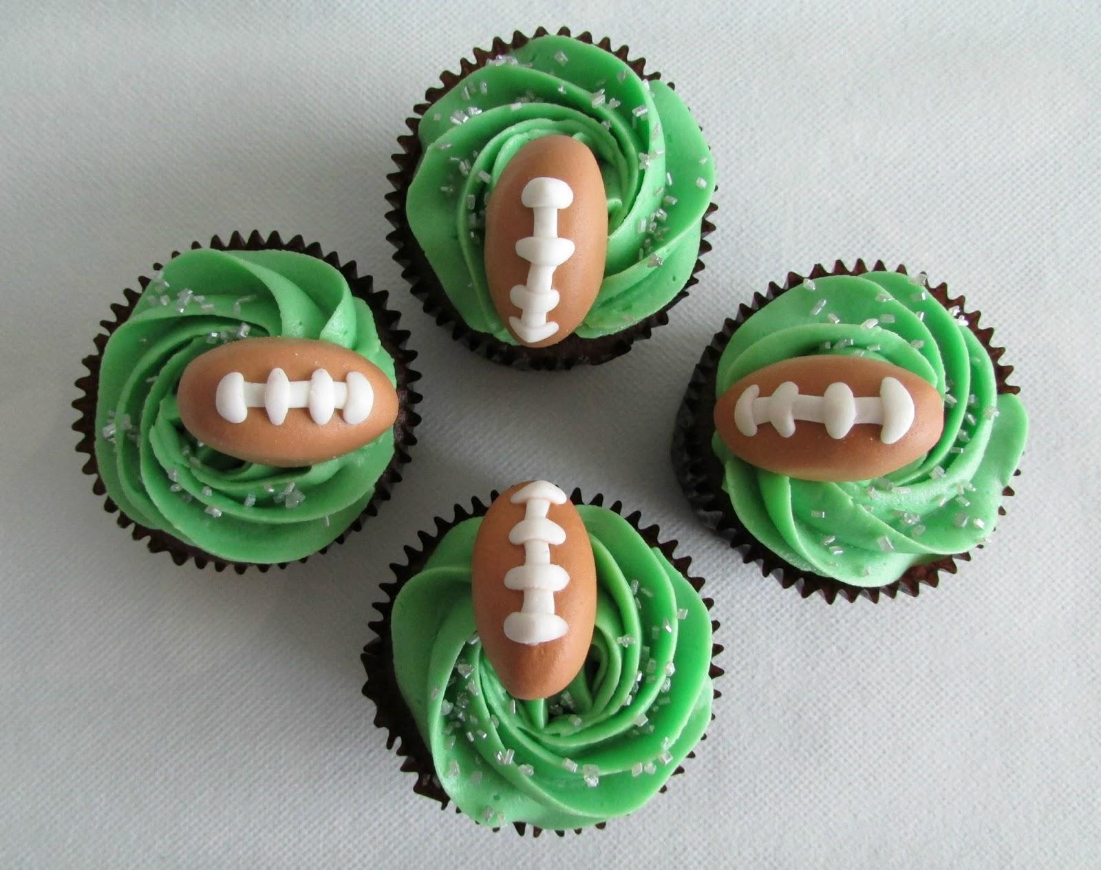 Cupcakes AMOR-diditas: Fútbol Americano Sabor A Chocolate