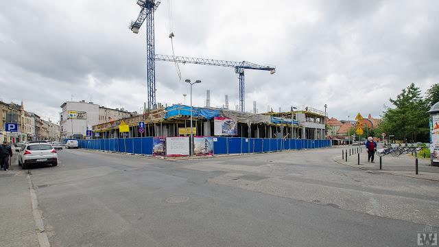 Budowa przy placu Kościeleckich w Bydgoszczy