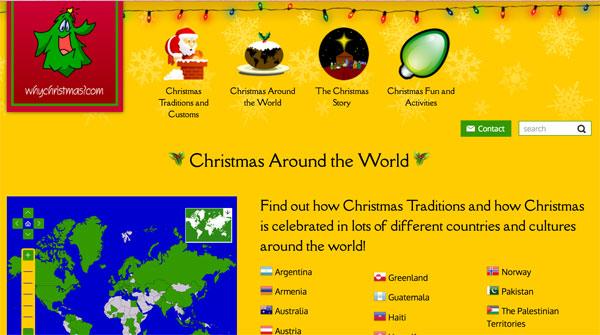 Web para aprender sobre la navidad en el mundo