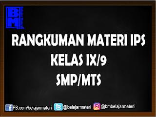 Rangkuman Materi IPS Kelas XI/9