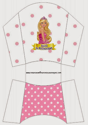 Barbie Princess School  Free Printable Fries Box.