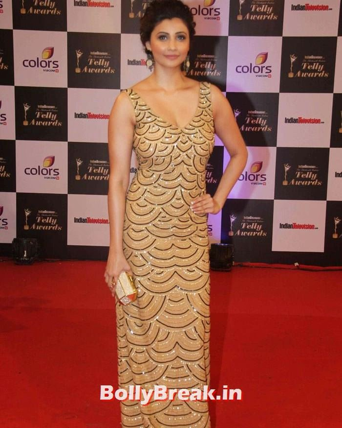Daisy Shah, Pics on Red Carpet of 13th Indian Telly Awards 2014