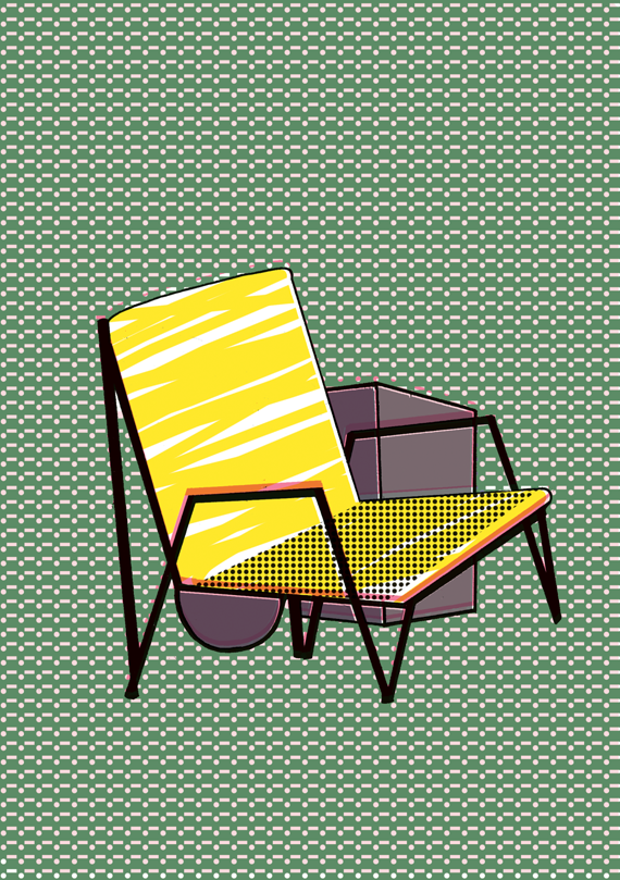 vectorial art, chairs by elena boils