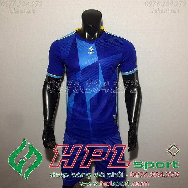 Áo bóng đá không logo Egan CaC màu xanh đậm