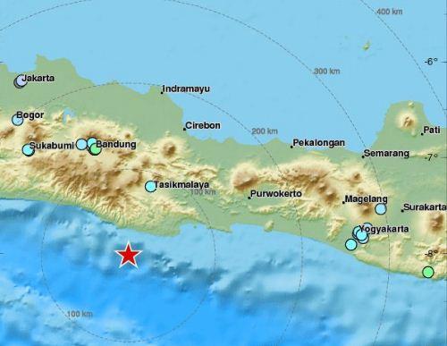 Dua Gempa Guncang Pantai Selatan Pulau Jawa, Guncangan Terasa Hingga Jakarta dan Bandung