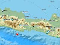 Dua Gempa Guncang Pantai Selatan Pulau Jawa, Guncangan Terasa Sampai Jakarta Dan Bandung