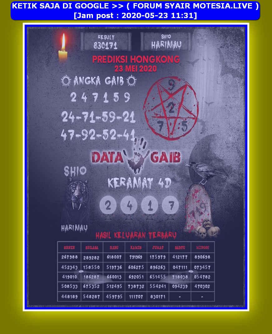 Kode syair Hongkong Sabtu 23 Mei 2020 241