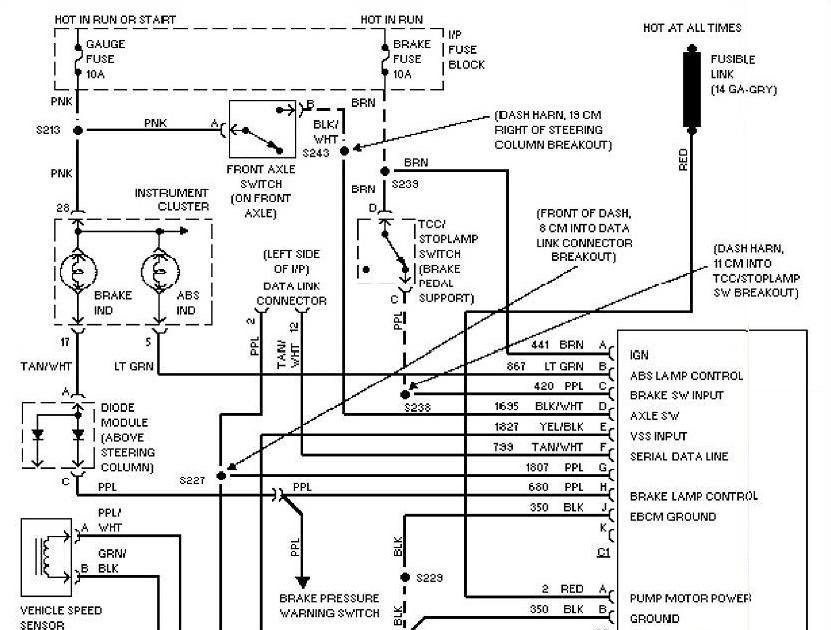 1997 Chevrolet Blazer Anti-lock Brake Circuits / Wiring