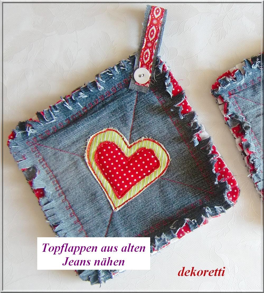 http://dekoretti.blogspot.de/2012/08/topflappen-aus-alten-jeans-nahen.html