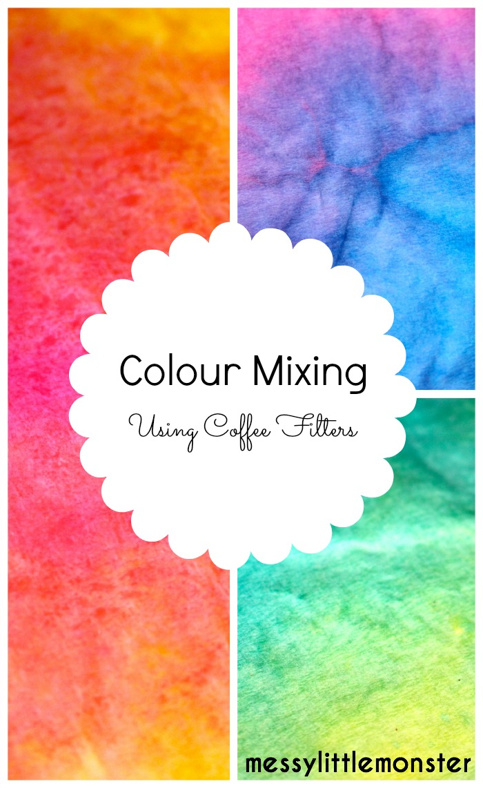 Coffee Filter Colour Mixing Craft