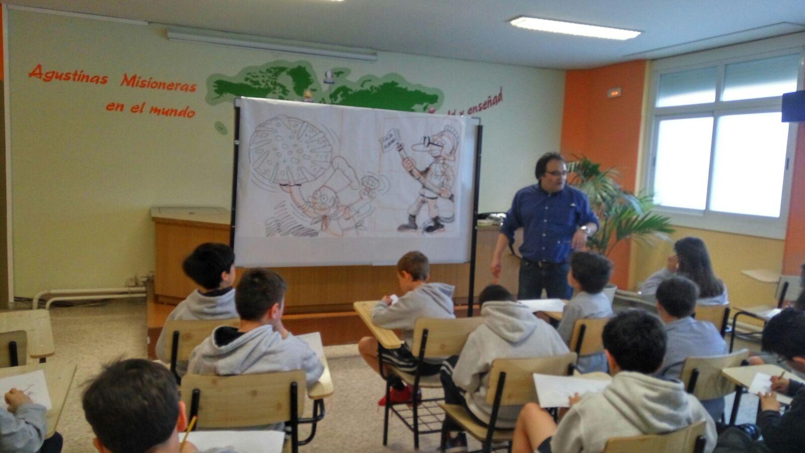 Agustinas Valladolid - 2017 - Primaria 4 6 - Visita Ilustrador