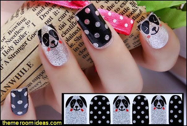 animal themed NAIL WRAPS STICKERS