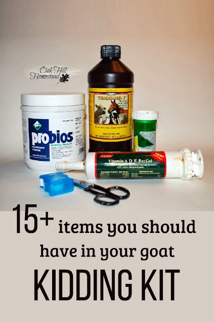 15+ items for your goat kidding kit.